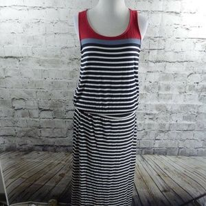 HATLEY Reagan Striped Knit Jersey Sleeveless Maxi